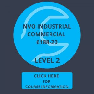 Logo Dark Blue, light blue and spanner Level 2 NVQ Diploma in Industrial Commercial 6188-20